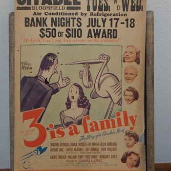 wacky movie poster - 3 is a Family