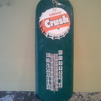 orange crush thermometer - Advertising