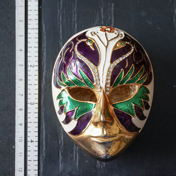 Carnival Mask Trinket Box - Costume Jewelry