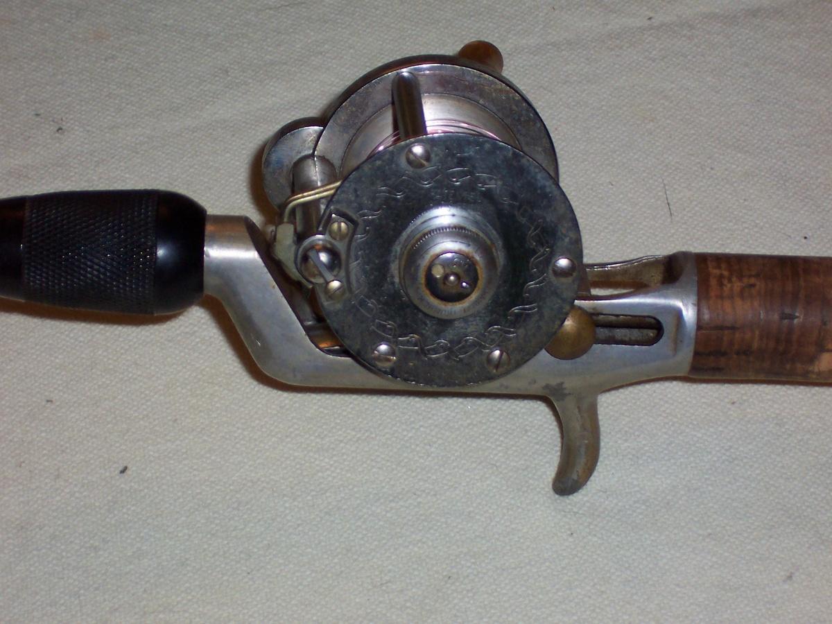 True Temper Champion Fishing Rod W Pflugr Silk Cast 1953