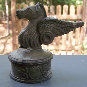 Pegasus fence post topper - Art Deco