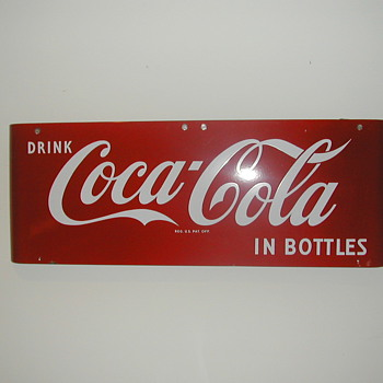 "1959 Coca-Cola ""Sled"" Sign 16""x43"""