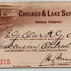 Chicago &amp; Lake Superior Railroad - 1902 Annual Pass