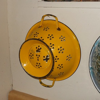 Enamelware Colander From Japan