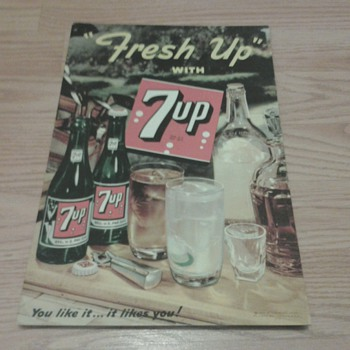 """Fresh Up"" With 7 Up Sign"
