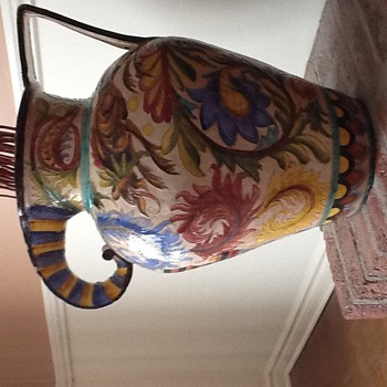 Beautiful old ceramic vase. - Art Pottery