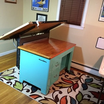 1950's Hamilton Desk/Drafting Table - Furniture