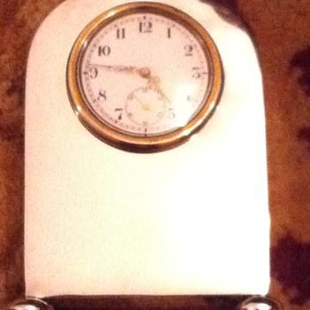 Edwardian Silver Miniature Mantel Clock - Clocks