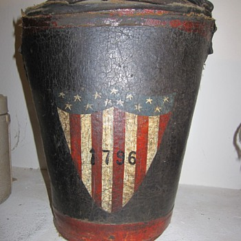 Antique Leather Painted Firebucket 1796 - Firefighting