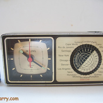 How cool is this?...Vintage Bulova Quartz Miniature World Time Alarm  Clock