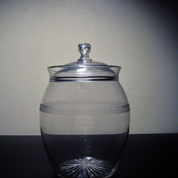 ANTIQUE BISCUIT JAR ?  - Glassware