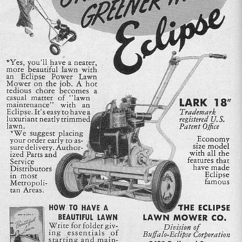 1950 - Eclipse Lawnmower Advertisements - Advertising