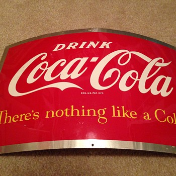 Coca-Cola Barrel Dispenser Sign