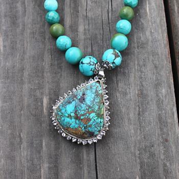 Persian Turquoise Pendant - Fine Jewelry