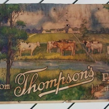 1916 Liberty Illinois Cardboard Farm Sign - Signs