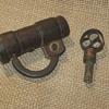 18th Century  .  .  .  Hand Forged Iron Padlock