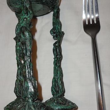 Vintage Iron Sculpture 3 figures - Visual Art