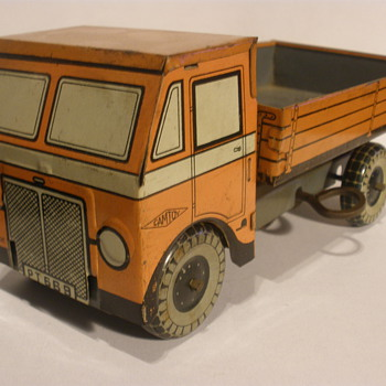 Camtoy dump truck, wind up tin. 30s? 