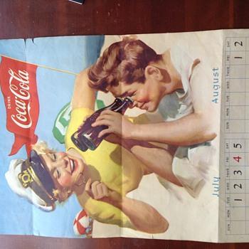1952 coca cola calendar page - Coca-Cola