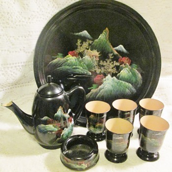 Chinese lacquerware set - Asian