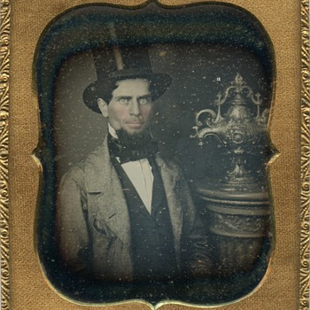 Daguerreotype of a mid-19th century silver bowl