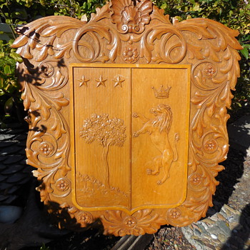 Carved Wood Wall Plaque...British Pub Wall Art?  - Visual Art