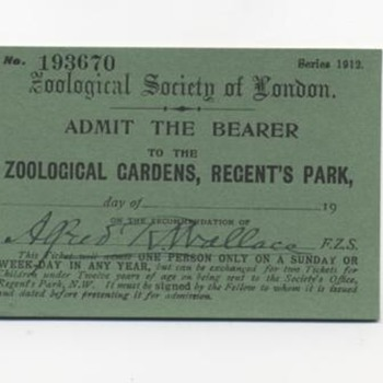 London Zoo Tickets / 1912 &amp; 1920 / signed