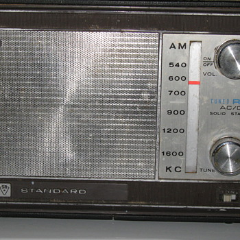 1966 Standard Radio Corp. portable radio