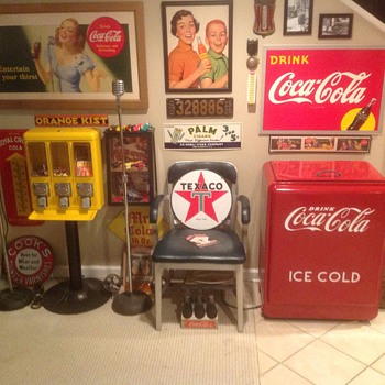 The Coca Cola/Old Advertising basement