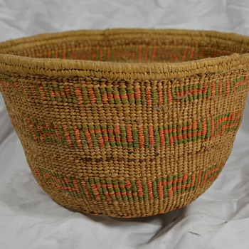 Old Hand Woven Native Basket