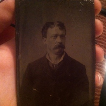 Man with mustache - Photographs