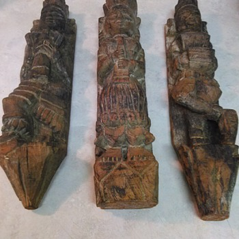 CARVED WOOD RELIGIOUS FIGURES