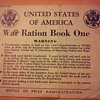 leftover WWII ration book with ration stamps