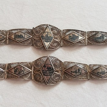 More 1930s Egyptian silver filigree bracelets