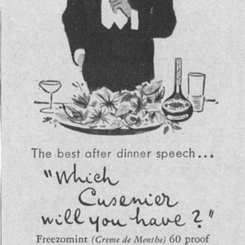 1954 Cusenier Cordials Advertisement - Advertising