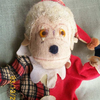 Old Ideal toy Monkey Dressed as a Clown