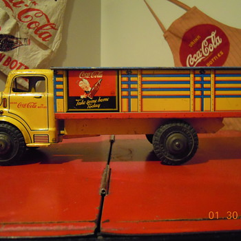 c. 1956 Coca-Cola Tin Truck by Marx - Coca-Cola
