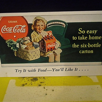 Coca Cola Coupon Cards From The Late 30s - Advertising