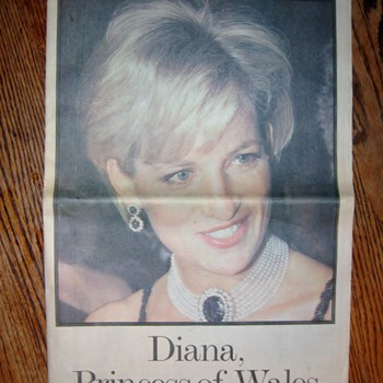 Newspaper of Princess Diana