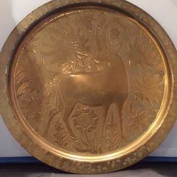Large brass wall charger ?