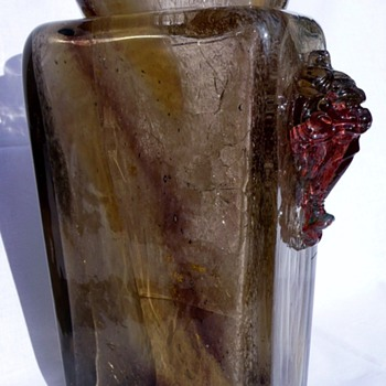 Two E. Leveille vases with metal oxide inclusions