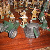 Astra guns 1940s. Diecast and pressed steel with cap fireing mechanisms.