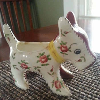 Floarl dog or donkey planter