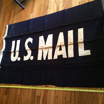 Vintage LARGE US MAIL FLAG - Office