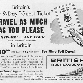 1952 - British Railways Advertisements - Advertising