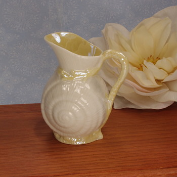 Belleek Toy Shell Jug - 4th mark - Pottery