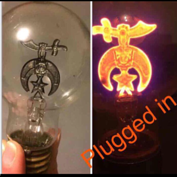 Vintage Shriner Lightbulb