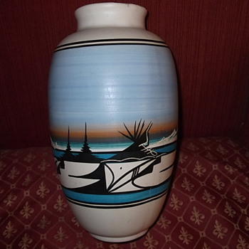 Vintage Vase - Native American
