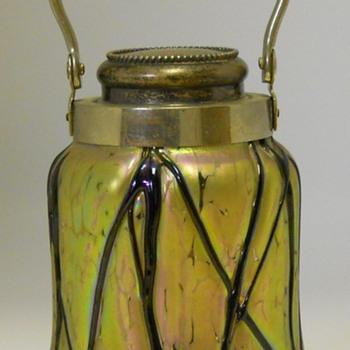 Art Nouveau Pallme König Iridescent Jar, Circa 1890 - Art Glass