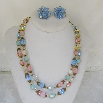Laguna aurora borealis givre glass necklace - Costume Jewelry